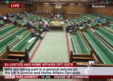 Screen capture from BBC Parliament