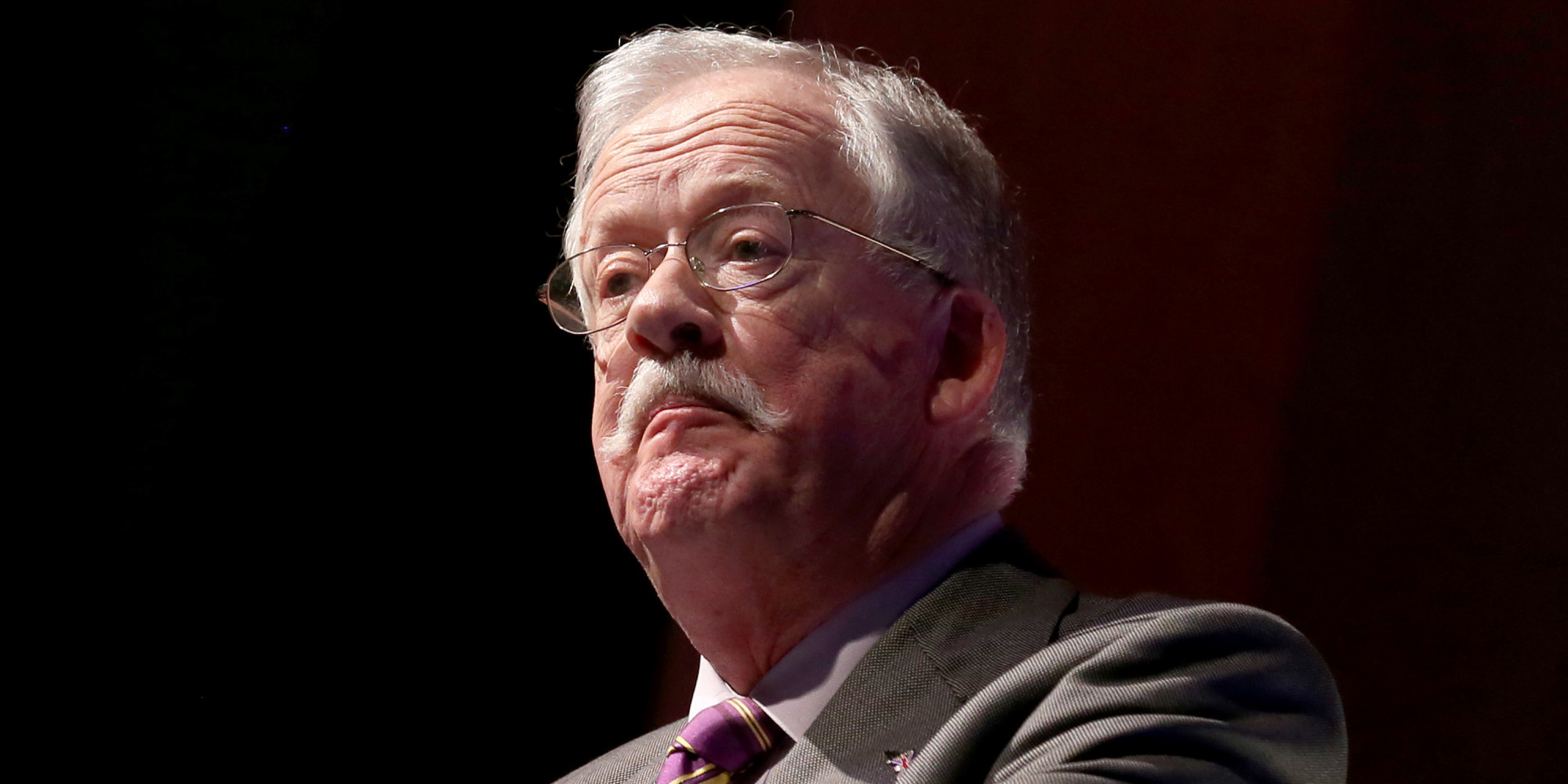 TORQUAY, ENGLAND - FEBRUARY 28:  Roger Helmer MEP and UKIP Energy and Industry spokesman speaks at the UKIP 2014 Spring Conference at the Riviera International on February 28, 2014 in Torquay, England. Ukip announced last week that the MEP Roger Helmer, who is currently at the centre of a homophobia row, will contest the Newark parliamentary by-election in a bid to become the partys first ever MP.  (Photo by Matt Cardy/Getty Images)